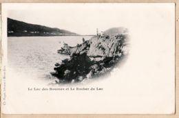 X39148 Edition Ch. PAGET Libraire à Morez Le Lac Des ROUSSES Jura Et Le ROCHER Pionnière 1890s - France