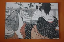 JAPANESE GRAVURE - Utamaro - , Ukiyoe - Old  Postcard / NUDE BELLE , Nude - Naked - Nu - Japon