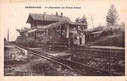C P A  74 Haute Savoie Annemasse Le Funiculaire Des Treize Arches Carte Animée - Annemasse