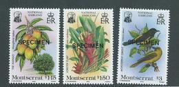 Montserrat 1985 National Emblems Set 3 Specimen Overprint MNH - Montserrat