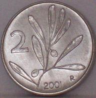 ITALIA 2 LIRE 2001 FDC UNC - 2 Lire