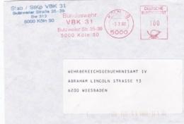 Modern German Military Post: Stab/StKp VBK 31 In Köln To Wehrbereichsgebuehrnisamt IV In Wiesbaden P/m Köln - Militaria