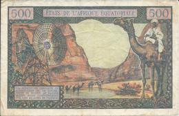 ETATS DE L'AFRIQUE EQUATORIALE  -  GABON    500 F  Nd(1963)   -- TTB -- - Gabun
