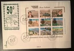 ITALIA 1995 ANNIVERSARIO IIa GUERRA MONDIALE SU FDC - 6. 1946-.. Repubblica