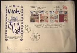 ITALIA 1997 ESPOSIZIONE FILATELICA DEL 1998 SU FDC - 6. 1946-.. Repubblica