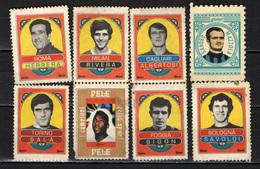 Italia - Chiudilettera - Calciatori Anni 60-70 - Albertosi, Rivera, Pelè, Bigon, Savoldi, Sala, Mazzola, Helenio Herrera - Erinnofilia