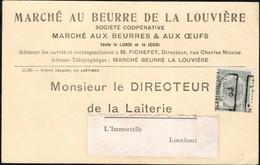 Carte Affranchie Par 1 Timbre Préoblitéré Envoyée De La Louvière (station) Vers Loenhout En 1902 - Precancels