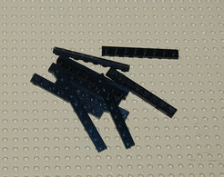 Lego Lot 10 X Plate Noir 1x8 Ref 3460 - Lego Technic