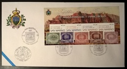 SAN MARINO 2002 PRIMO FRANCOBOLLO - FDC