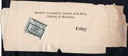 Bande Journal Affranchie Par 1 Timbre Préoblitéré Envoyée De La Louvière (station) Vers Feluy En 1902 - Precancels