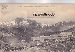 CPA - 73 - COL DU GLANDON Et Les ROCHERS De L' ARGENTIERE (2.917m) - Chevaux Ou Anes Des Chasseurs Alpins - Bel état - France