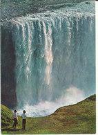 Iceland Postcard Sent To Denmark 1971 ?? (Waterfall Dettifoss) - Iceland