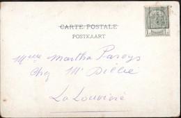 Carte Illustrée Affranchie Par 1 Timbre Préoblitéré Envoyée De La Louvière (station) En Ville En 1906 - Precancels