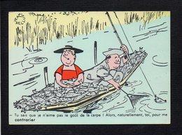 Illustrateur Dessin Signé (B) Jean Bellus  / Fantaisie,humour,pêche,pêcheur / Tu Sais Que Je N'aime Pas Le Goût De .... - Illustrateurs & Photographes