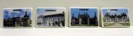 Fèves Brillantes Plates X 4 - Châteaux De La Loire - Chantilly, Chenonceau, Chambord Et Cheverny - Regio's