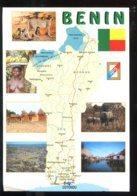 CPM Bénin Carte Géographique Et Multi Vues - Benin