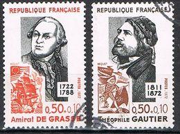 FRANCE : N° 1727 Et 1728 Oblitérés (Personnages Célèbres) - PRIX FIXE : 1/3 De La Cote - - France