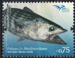 Portugal 2016 Oblitéré Used Poissons De La Méditerranée Sarrajão Sarda Sarda Bonite à Dos Rayé SU - 1910-... République