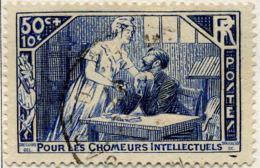 France Poste Obl Yv: 307 Mi:303 Pour Les Chômeurs Intellectuels (cachet Rond) - Oblitérés