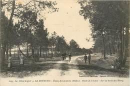 CPA 33 Gironde La Côte D'Argent Le Moutchic Etang De Lacanau Médoc Route Del'Océan Sur Les Bords Non Circulée - France