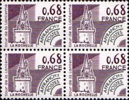 France Préo N** Yv:162 Mi:2163 Tour De La Lanterne La Rochelle (Bloc De 4) - 1964-1988