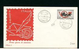 ITALIA - FDC - 1960 -  GIORNATA FRANCOBOLLO - 6. 1946-.. Repubblica