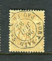 Rare N° 92 - Cachet Maritime D'Escale PORT SAID PAQ. FR. N° 5 - 1876-1898 Sage (Type II)