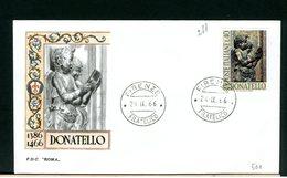 ITALIA - FDC - 1966 -  DONATELLO - 6. 1946-.. Repubblica