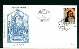 ITALIA - FDC - 1966 -  GIOTTO - 6. 1946-.. Repubblica