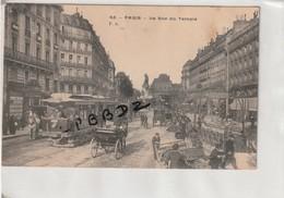 CPA - 75 - PARIS 3e - La Rue Du Temple - TRAMWAY - ATTELAGES - Bouche METRO TEMPLE  Style ART NOUVEAU - Guimard - Arrondissement: 03