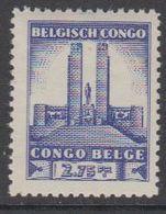Belgisch Congo 1941 Monument Koning Albert I Te Leopoldstad 2,75Fr  1w ** Mnh (42934B) - 1923-44: Ongebruikt