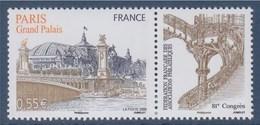 = 81è Congrès De La Fédération FAP Le Grand Palais N°4215 Neuf Gommé +vignette Le Pont Alexandre III à Paris - Ungebraucht