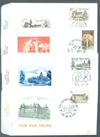 BELGIUM - FDC - 23.10.1976 -TOERISM TOURISME  - COB 1832 - 1835 RODAN 494-497 - Lot 19600 - 1971-80