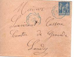France : Landes ,  Cachet Convoyeur De Morcenx à Tarbes - 1849-1876: Période Classique