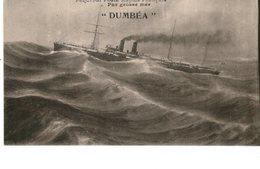 Messageries Maritimes Paquebot DUMBEA  PAR GROSSE MER - Steamers