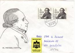 D+ Berlin 1979 Mi 601 Moses Mendelssohn (UNIKAT / ÙNICO / PIÉCE UNIQUE / JEDINEČNÝ) - [5] Berlijn