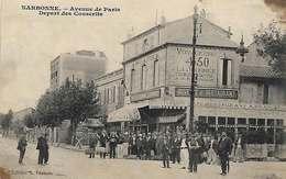 11 Narbonne 1907 Départ Des Conscrits Au Café A.Francés Dos Scanné éditeur Francés RARE - Narbonne