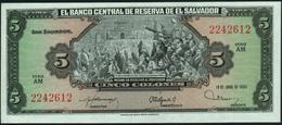 EL SALVADOR - 5 Colones 19.06.1980 UNC P.132 A - Salvador
