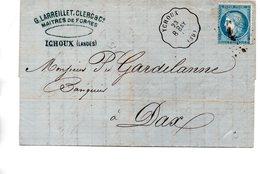 France : Landes :l Cachet Ferroviair De Ychoux - 1849-1876: Période Classique