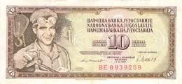 10 Dinar Banknote Jugoslawien 1981 VF/F (III) - Jugoslawien