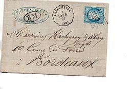 France : Landes : Cachet Ferroviair De Labouheyre - 1849-1876: Période Classique