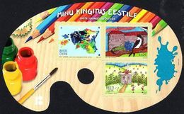 Estonia Estland Estonie 2018 (17) Children's Drawing Competition - Sheet / Booklet - Estonia
