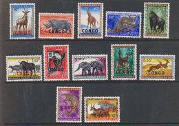 Congo 1960 Animals Ovptd 12v ** Mnh (42936) - Republiek Congo (1960-64)