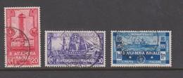 Italy S 300-302 1931 Royal Naval Academy, Mint Hinged - 1900-44 Vittorio Emanuele III
