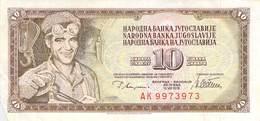 10 Dinar Banknote Jugoslawien 1978 VF/F (III) - Jugoslawien