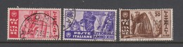 Italy S 377-379 1935 Art And Culture,used - 1900-44 Vittorio Emanuele III