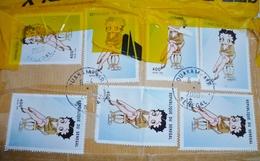 Timbre Sénégal  Betty Boop De 1999 , Valeur Faciale 400 , Oblitéré Ouakam - Senegal (1960-...)