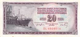 20 Dinar Banknote Jugoslawien 1974 VF/F (III) - Jugoslawien