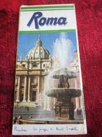 ITALIA ROME- ROMA CENTRE TOURISTIQUE-Oude Toeristische Brochure-Ancien Dépliant Touristique-OLD Tourist Brochure - Dépliants Turistici