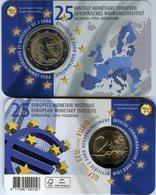 Belgique Belgium 2 Euro 2019 25 Ans De L'Institut Monétaire Européen IME EMI Français BU Coin Card - Belgique